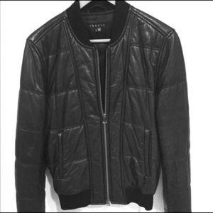 Men's theory leather jacket